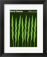 Framed Montague State Posters - North Dakota