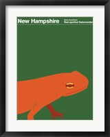 Framed Montague State Posters - New Hampshire