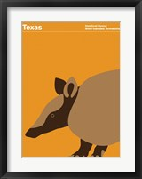 Framed Montague State Posters - Texas