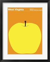 Framed Montague State Posters - West Virginia
