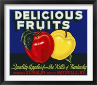Framed Delicious Fruits