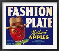 Framed Fashion Plate Apples