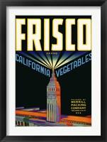 Framed Frisco Brand California Vegetables