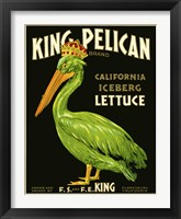 Framed King Pelican Brand Lettuce