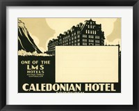 Framed Caledonian Hotel, Edinburg