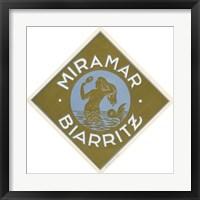Framed Miramar Biarritz