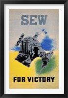 Framed Sew for Victory
