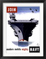 Framed Join the Navy, Modern Mobile Mighty