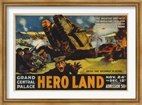 Framed Hero Land, WWI Movie Poster