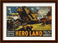 Framed Hero Land, WWI Movie Poster