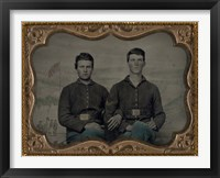 Framed Civil War Brothers in Arms