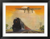 Framed Giant Conquerers of Space and Time Pennsylvania Railroad