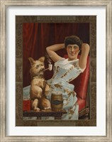 Framed Globe Tobacco Co. Goes to the Dogs