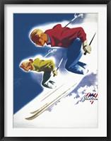 Framed Jantzen by Binder Man and Women, Ski 1947