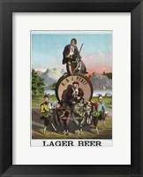 Framed Lager Beer
