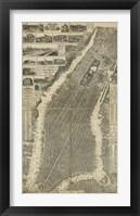 Framed City of New York Map, 1879