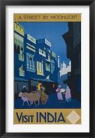 Framed Street by Moonlight - Visit India