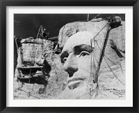 Framed Abraham Lincoln on Mount Rushmore