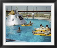 Framed Apollo 1 Astronauts Working by the Pool