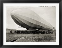 Framed Blimp, Zeppelin No. 3, on Ground