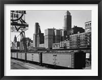 Framed Chicago Skyline from Water Street