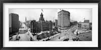 Framed City Hall and Campus Martius, Detroit