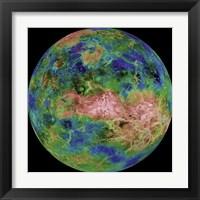 Framed Hemispheric View of Venus