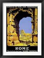 Framed Rome Express Rome, Par le Train de Luxe