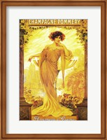 Framed Champagne Pommery
