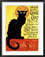 Framed Chat Noir (with text)