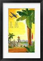 Framed La Palm Tree