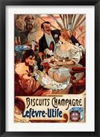 Framed Biscuits Champagne Lefevre-Utile
