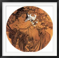 Autumn Medallion Framed Print