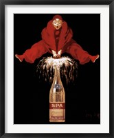 Framed Belgium Liquor Red Man