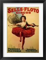 Framed Sells-Floto Circus