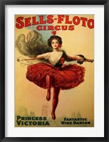 Framed Sells-Floto Circus