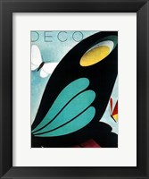 Framed Deco Butterfly