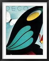 Framed Deco Butterfly