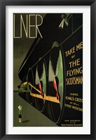 Framed Flying Scotsman