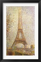Framed Eiffel Tower by Seurat
