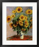 Framed Bouquet of Sunflowers