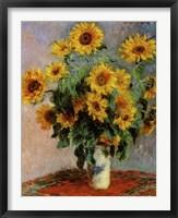 Framed Bouquet of Sunflowers