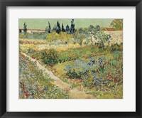 Framed Bluhender Garten