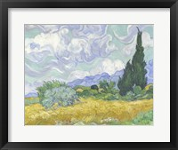 Framed Wheatfield with Cypress