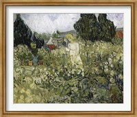 Framed Marguerite Gachet In The Garden