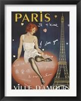 Framed Paris I Love You