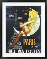 Paris Moon Framed Print