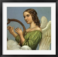 Framed Angel With Harp