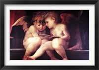 Framed Two Redhead Cherubs