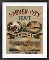 Framed Garden City Hat, 1878
